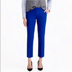 J. Crew Patio Pants Blue Crop C6222 Size 4